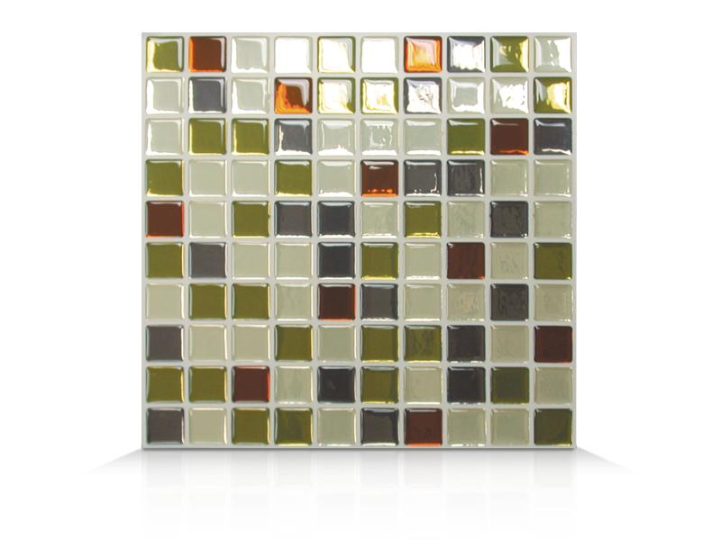 La smart tiles carrelage mural auto adh sif et for Carrelage mural argente